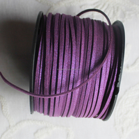 High Quality 100Yard/roll 3mm Wide Glitter Faux leather Suede Cord Imitation Leather Strips Thread Lace Wholesale