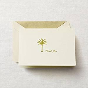 Crane & Co. Hand Engraved Palm Tree Thank You Note