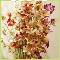 New type private custom evergreen dendrobium cheap silk flower centerpieces