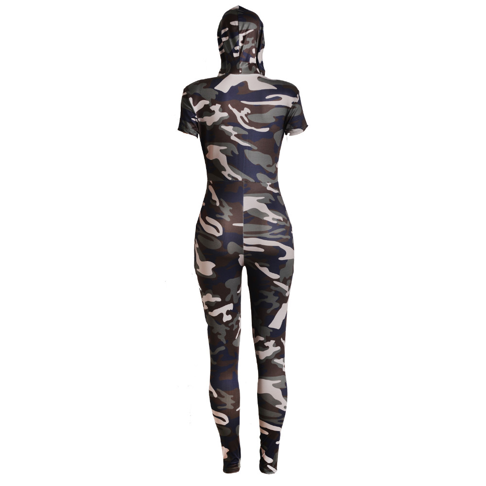 b73a33a57a6 2019 Wholesale 2017 New Camouflage Jumpsuit Hooded Overalls Women ...