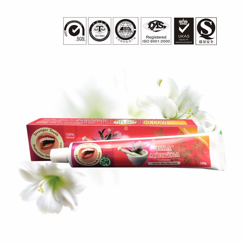 Private Label Nano Silver Toothpaste Manufacturers Red Gel