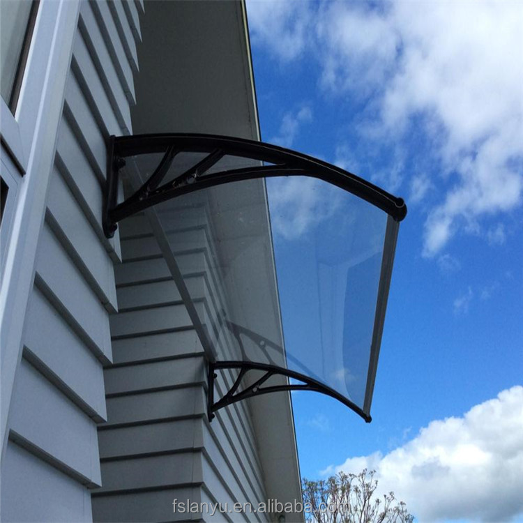 outdoor canopy balcony awning design/polycarbonate awning
