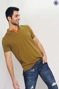 Men Plain Single Pk Polo T-shirt