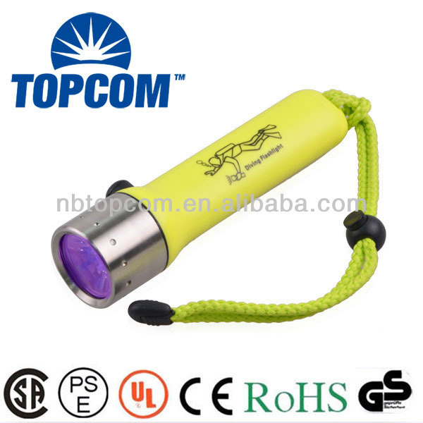 LED diving uv underwater high power flashlight torch
