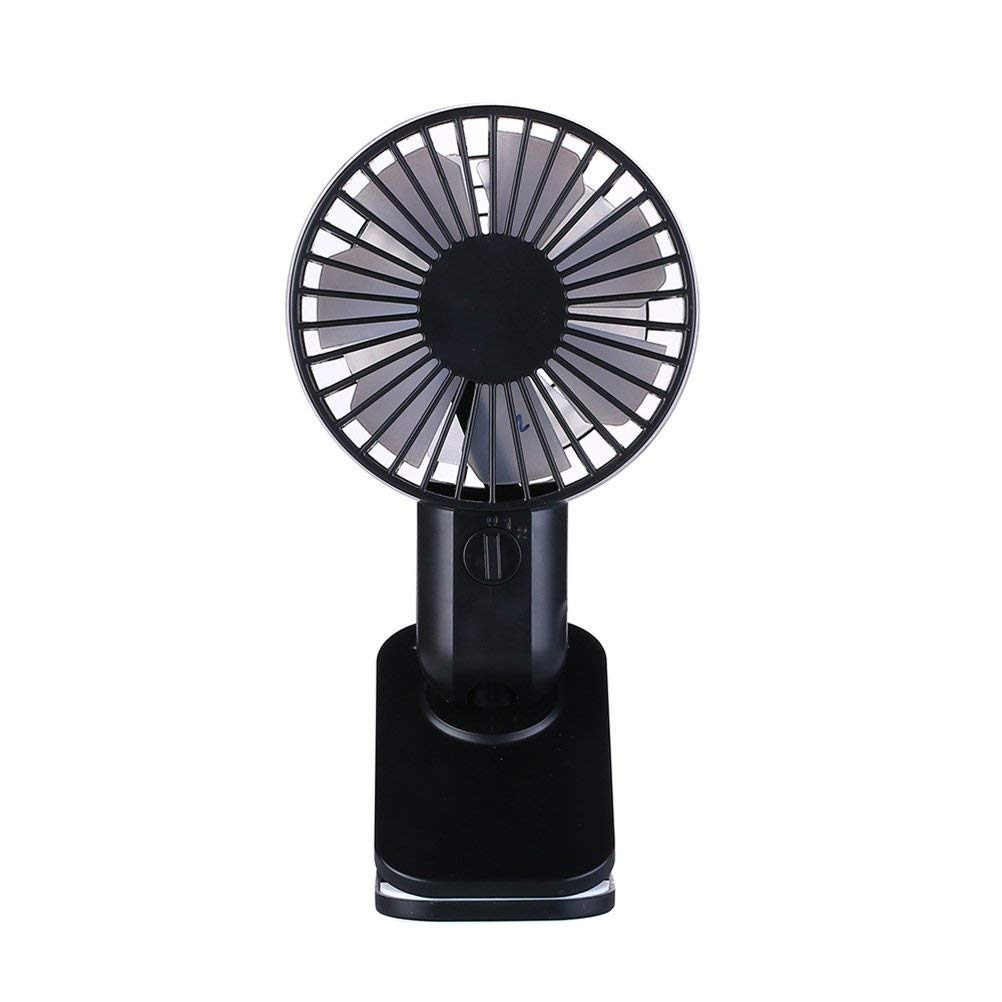 UKCOCO Mini Adjustable Fan USB Table Desk Personal Silent Cooling Fan with Clip (Black)