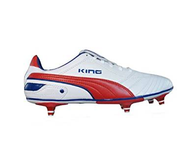 Get Quotations · Puma King Finale SG Mens soccer Boots   Cleats - White    Red c1aff1651