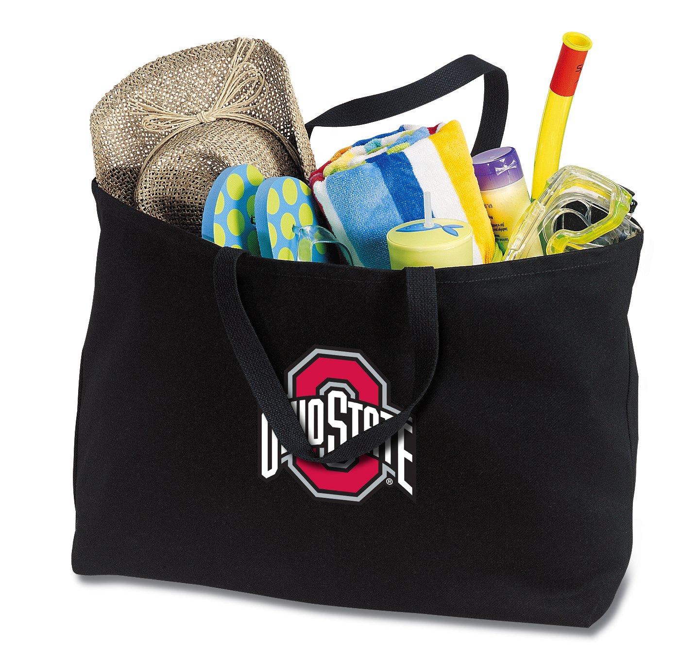 fc5115ba0b6d Get Quotations · JUMBO OSU Buckeyes Tote Bag or Large Canvas Ohio State  University Shopping Bag