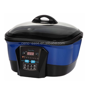 Square Shape Time and Temperature Pre-setting 8 in 1 Multifunctional Cooker