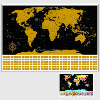 Scratch Off Map Customized Detailed Scratch Off World Usa Or Other ...