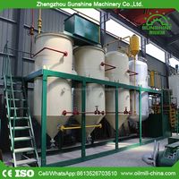 1TPD small scale soybean edible cooking vegetable oil machine refinery