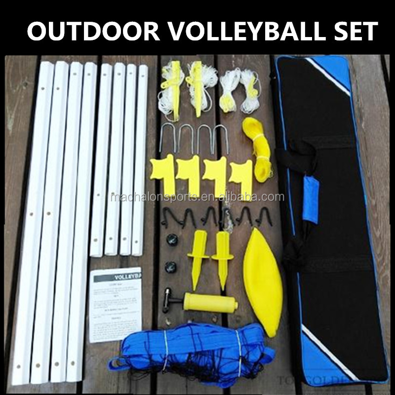 Outdoor volleybal set sport volleybal spel set draagbare volleybalnet stand