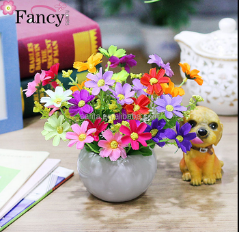 221 & Artificial Bonsai Home Furnishings Fake Flowers Small Potted Ornaments Sets Of Ornaments Plastic Dry Bouquet - Buy Potted Flower ArrangementsFlower ...