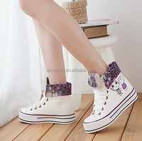 Popular Rubber Vulcanized Canvas Shoes Classic Casual Shoes Women' Leisure Vulcanized Shoes
