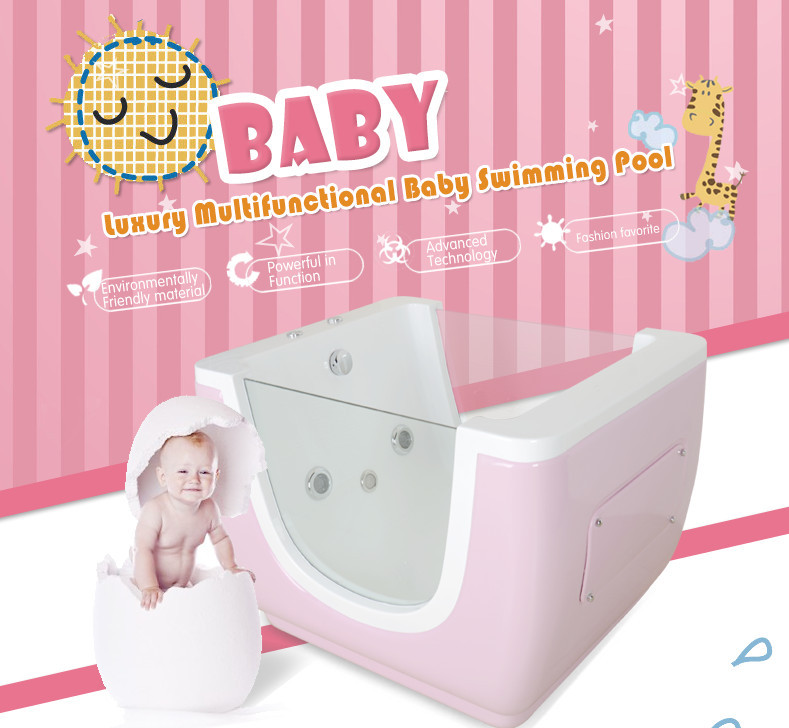 Baby Lovely Bathing Equipment Side Glass Massage Spa Jets Portable ...