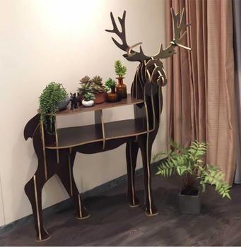 Scandinavian Living Room Hotel Bookshelf Creative Mysterious Turned
