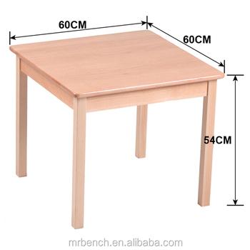 Enfants En Bois Table Carrée Dimensions Meubles Maternelle Utilisation -  Buy Table Et Chaise De Jardin D\'enfants En Bois,Dimensions Meubles ...