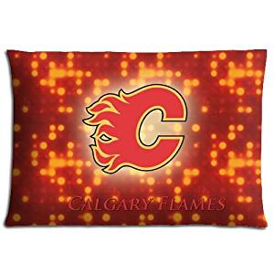 Polyester & Cotton Calgary Flames Lowest Price Inspirational Zippered Home Pillow Cases 16x24 inch 40x60 cm