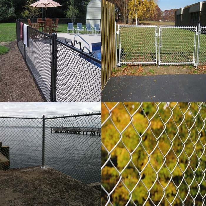 Chain link yard fencing