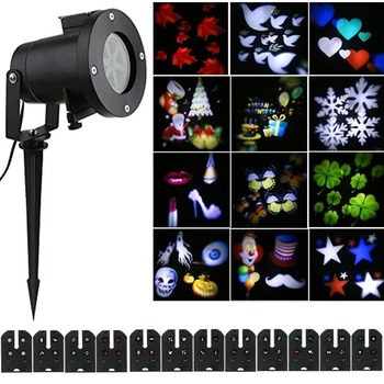 Christmas Halloween Projector Lights,Moving Lights 12 Pattern ...