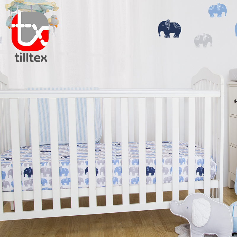 Home baby used safety indian cotton bed crib sheets
