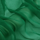"Howmay crinkle georgette silk fabric for clothing 5m/m 55""cm 140cm 100% pure silk fabric green transparent for scarf dress"