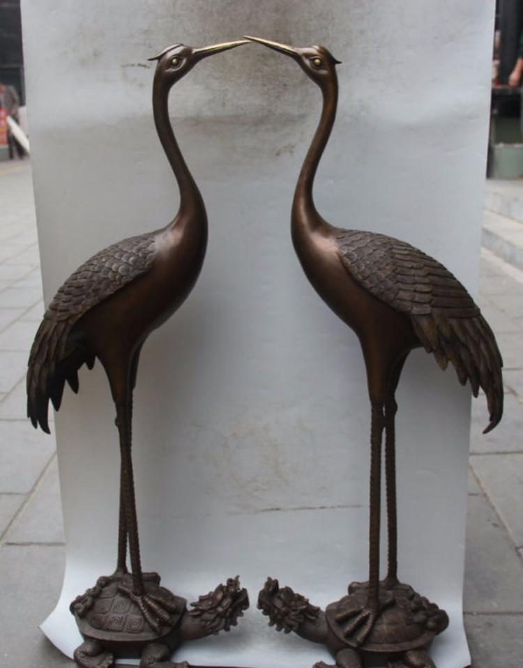 China Supplier Home Decor Metal Bronze Crane And Turtle Sculpture ...