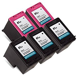 Printronic Remanufactured Ink Cartridge Replacement for HP ( Black , 5-Pack )