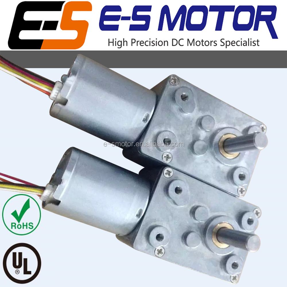 brushless motor with worm gearbox, 6/12/24 V