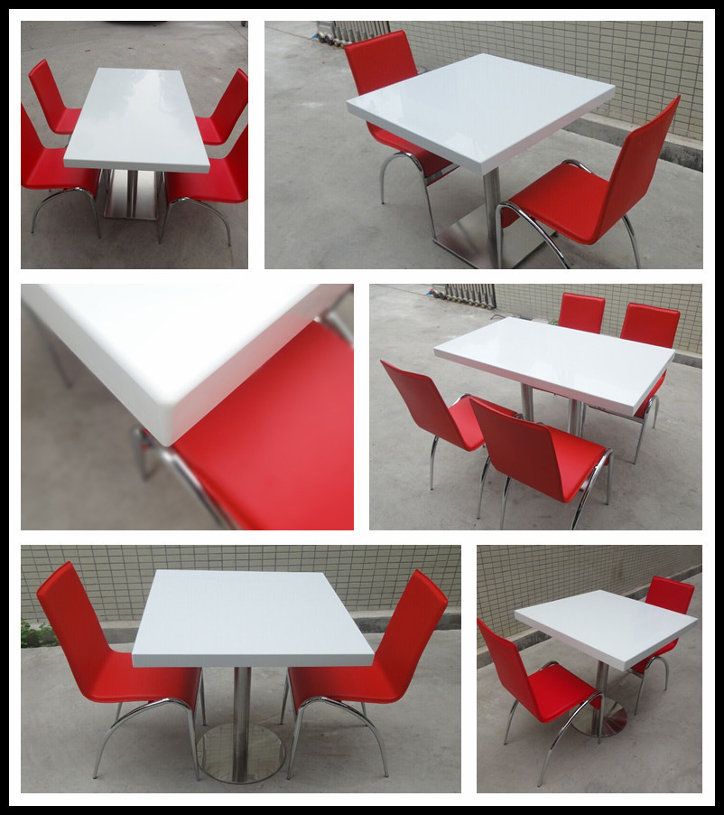 Cheap Restaurant Tables Chairs / Cafe Table Chair Set / Fast Food Furniture