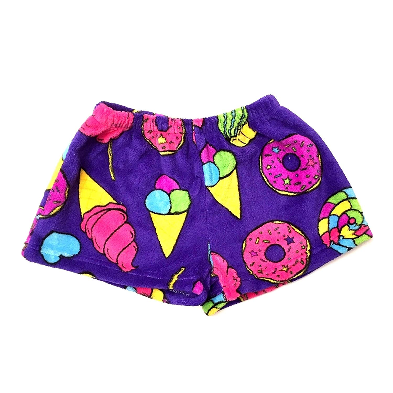 Popular Girl's Fuzzy Fleece Pajama Shorts 100% Soft Polyester Sleepwear With Elastic Band Flame Resistant Kids Clothing