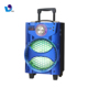 Newly 20W 8 Inch Portable Trolley Speaker With Led Colorful Light
