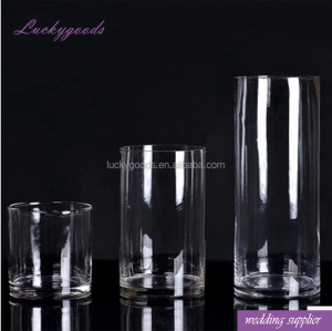 LHP001 wholesale transparent decorative tall glass flower vases