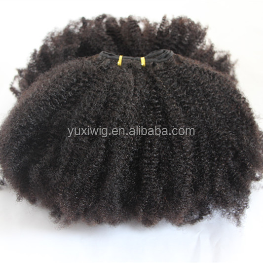 Luxury quality 4c afro kinky curly human hair <strong>weave</strong> in stock