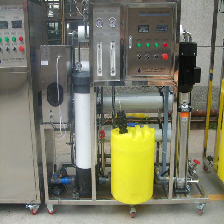 2000LPH two stage fiberglass brackish water ro plant in water treatment from Guangdong manufactory with EDI