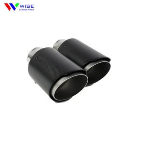 Universal carbon fiber exhaust tip for car