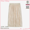 2016 Hot selling elegant casual wear crochet lace skirt