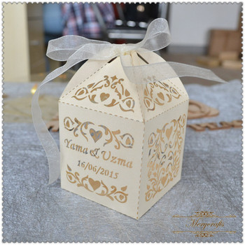 40 Laser Cur Best Sell Pearl Paper Wedding Decorative Bulk Cupcake Best Decorative Cupcake Boxes