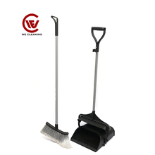 Customized PP bristle garden long handle broom dustpan set