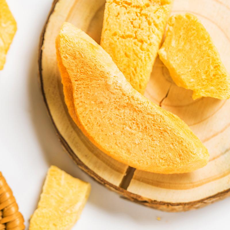 스낵 식품 동결 건조 제품 건조 노란색 복숭아