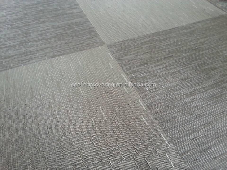 Geweven vinyl vloeren bamboe patroon vloeren roll pvc vloeren voor