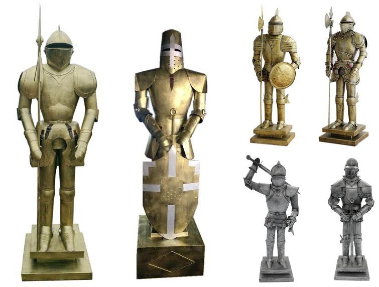 थोक धातु प्राचीन मध्ययुगीन नाइट मॉडल रोमन आर्मर कवच नाइट