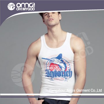 2016 New fashion low price colorful men tank top towel material t-shirt