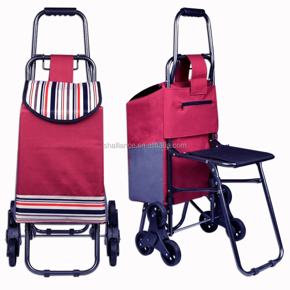 Cheap Price Fashion Shopping Trolley Bag With Seat