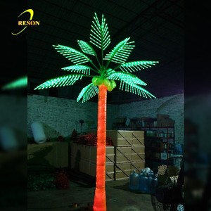 China Manufacturer Wedding Decoration Artificial Outdoor LED Lighted Coconut Palm Tree