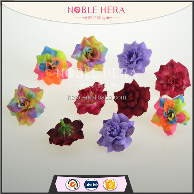 Noble Hera FH-076 100pcs/bag Cheap decorative printed artificial velvet rose <strong>flower</strong> wholesale