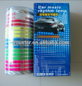 High quality equalizer led car sticker, flash led car panel, led panel for all car