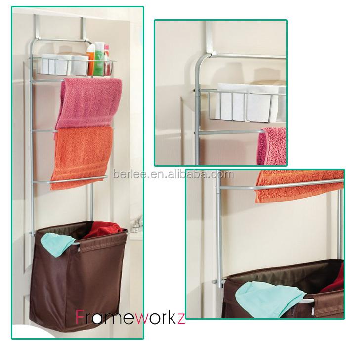 Hang Over The Door Laundry Hamper Sorter Hanging Towel Rack Bathroom Product On Alibaba