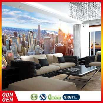 3d Beautiful Hongkong City Buliding Photo Wallpaper Digital Printing