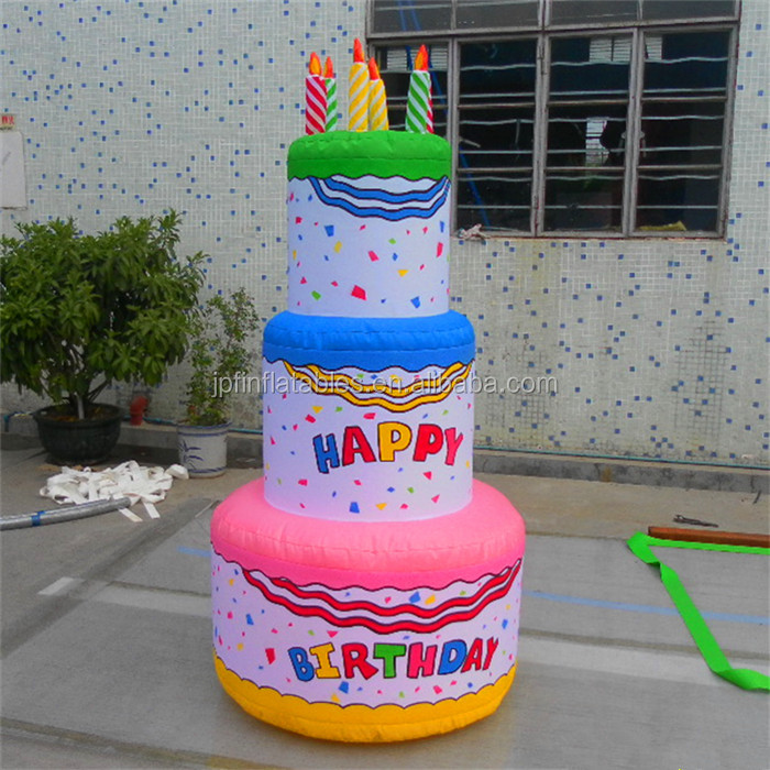 Phenomenal 2018 Event Inflatable Birthday Cake With Candles For Party Buy Personalised Birthday Cards Bromeletsinfo