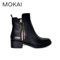 MK2039-1 black fashionable girls winter women ankle shoes boots